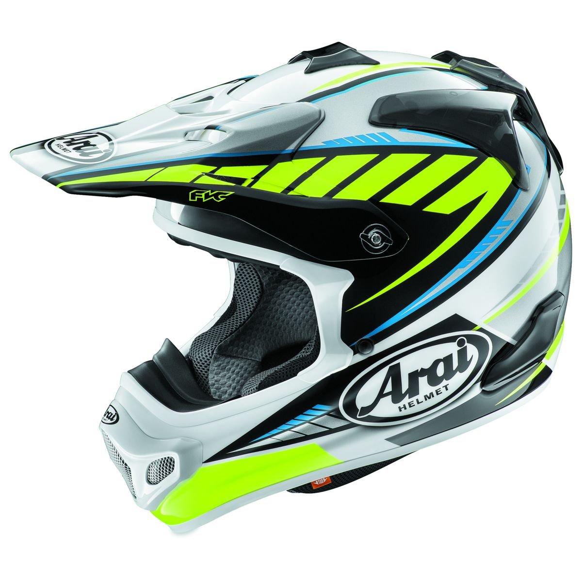 Amazon.com: Arai VX-Pro 4 Spike Yellow Motocross Helmet - Small: Automotive