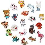 20 parches de animales bordados para perro/llamas/conejos para ropa, planchar o coser en parches