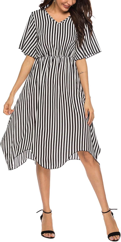 Auxo Damen Sommerkleider Schulterfrei Maxi Kleid /Ärmellos Abendkleid Strandkleid Party Chiffon Lange Kleid