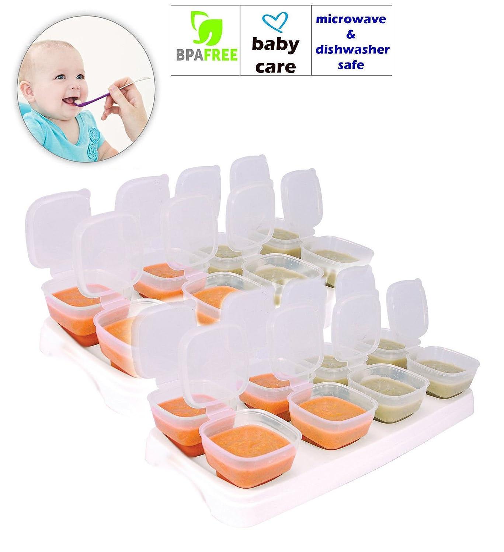 Baby Freezer Cube Trays. 2 x Trays 16 x 70ml Pots BPA Free, Free Shipping Hoolaroo