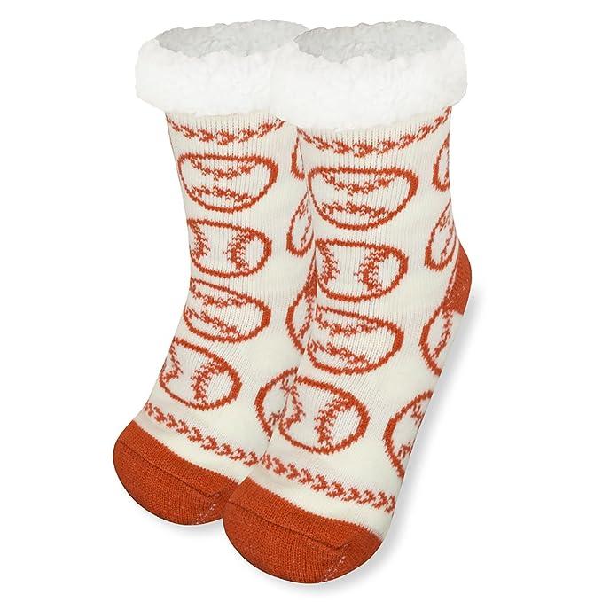 540d637a5 Amazon.com: Baseball Slipper Sock | Sherpa Fleece Lined | One Size ...