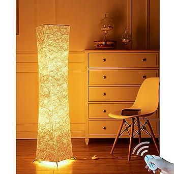 lvyuan Lámpara de Pie Moderna Bombilla LED RGB incluida para la Decoración de la Sala de