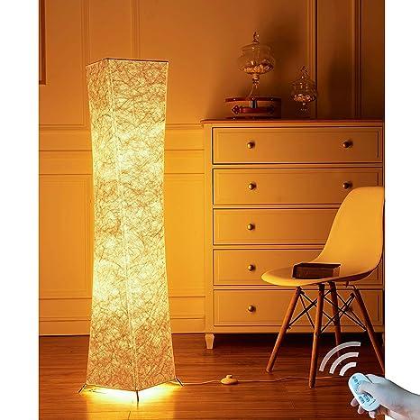 lvyuan Lampada da Terra Moderno LED Lampadina Inclusa per la Decorazione  Soggiorno 26x26x132cm spina europea (26*132CM+LED RGB Bulbs)