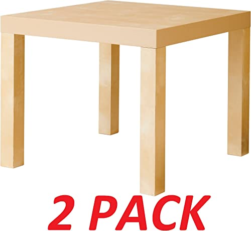 Ikea Table End Side Birch Color 2 Pack Lack