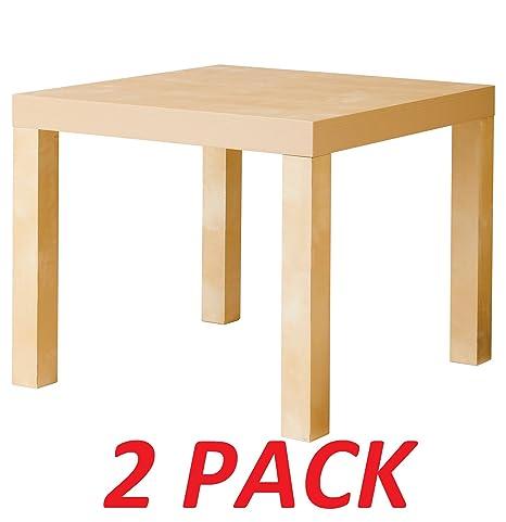 Amazon.com: IKEA mesa auxiliar de abedul color (paquete de 2 ...