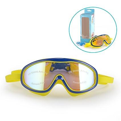 0f58a8dcb5be Amazon.com   Peacoco Kids  Wide Swim Goggles