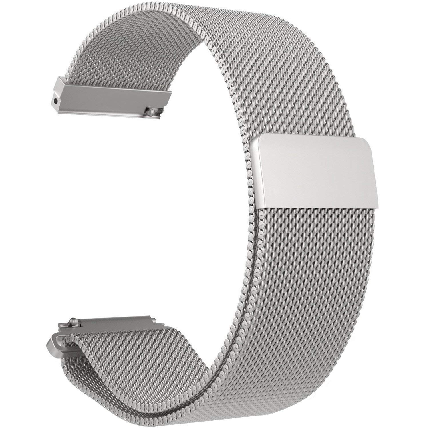 for Matrix PowerWatch Bands- Replacement Men & Women 22mm Strap Bands,Metal Milanese Loop Bands for Matrix Industries PowerWatch Smartwatch (Silver)