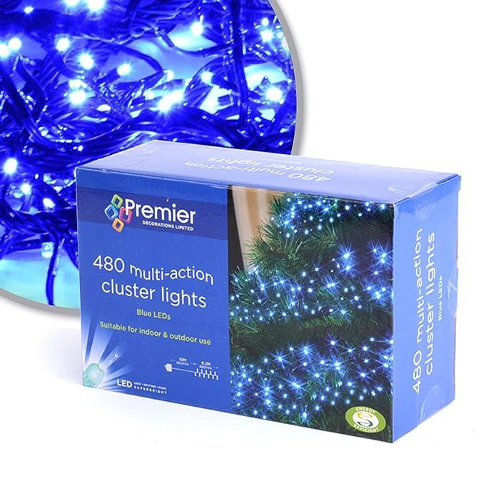 amazon com premier 480 multi action cluster lights blue by premier