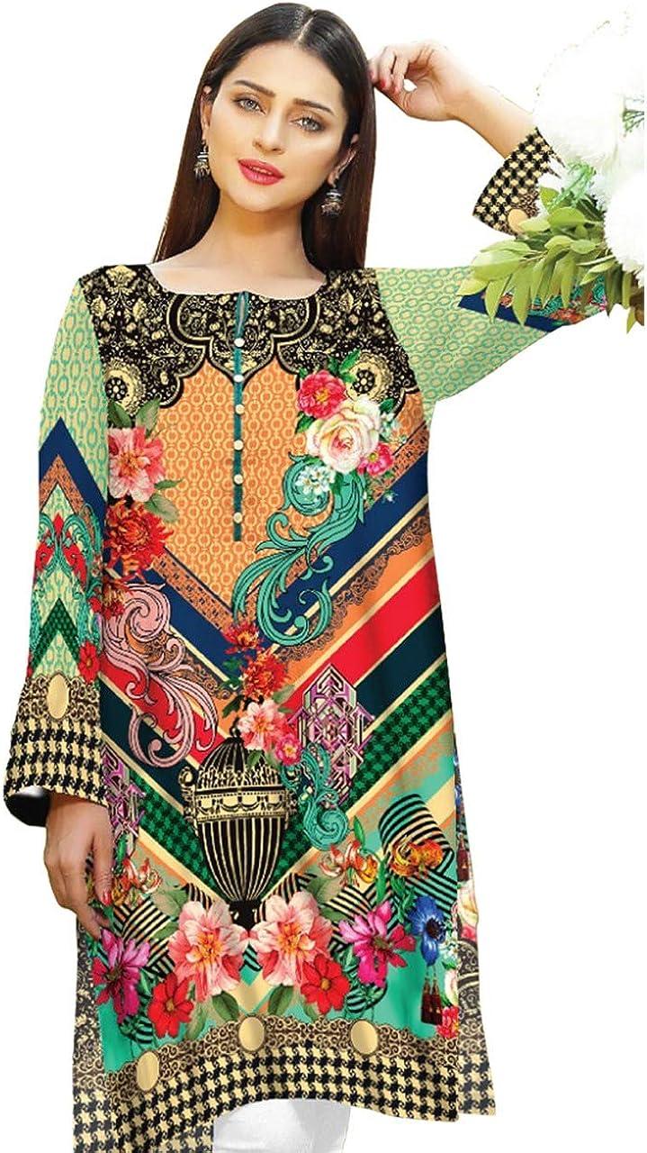 SUFIA FASHIONS Tunique Indienne en Coton Kurti pour Femme