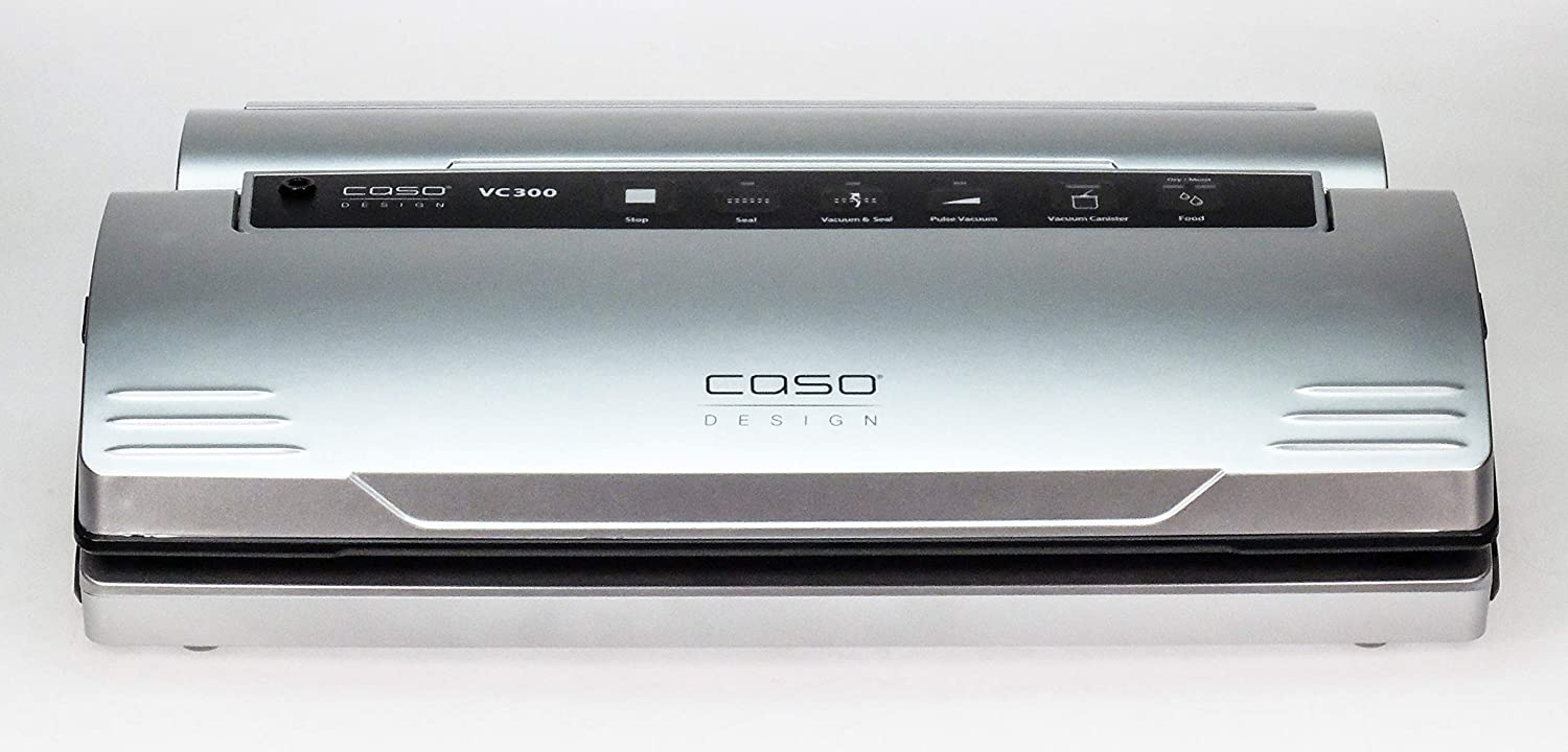 Caso Design VC.300 Vacuum Sealer All-in-One System with Food Management App, 1, Stainless
