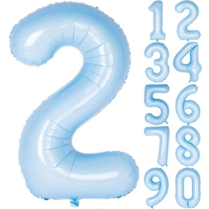 Amazon Com 40 Inch Tiffany Blue Numbers 0 9 Birthday Party