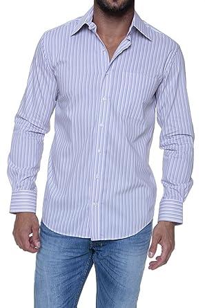 Mode Bravo Camisa para hombre, Color: Lila, Talla: 40: Amazon.es: Ropa y accesorios