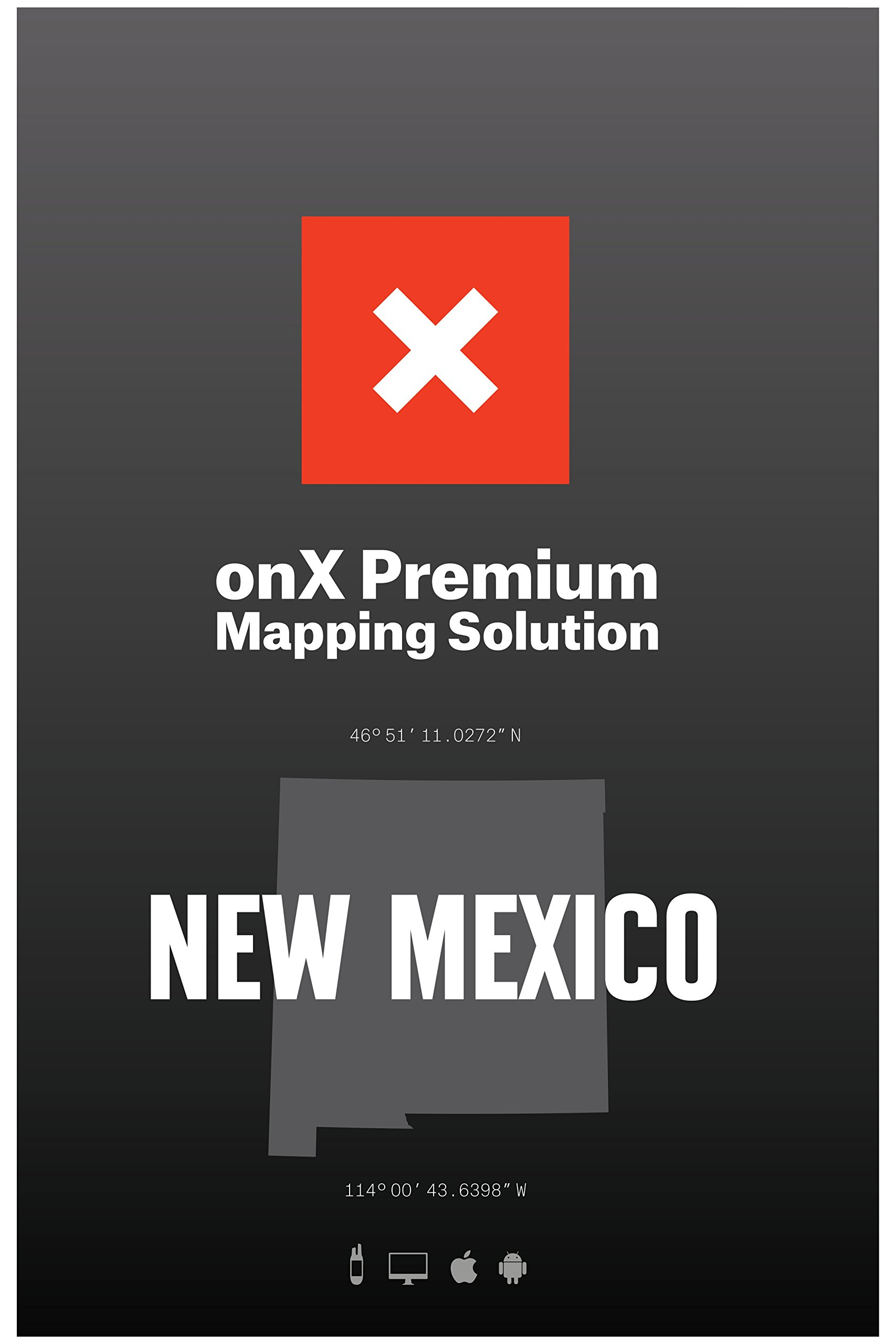 ONX Hunt: New Mexico Hunt Chip for Garmin GPS - Hunting Maps with Public & Private Land Ownership - Hunting Units - Includes Premium Membership Hunting App for iPhone, Android & Web by ONX