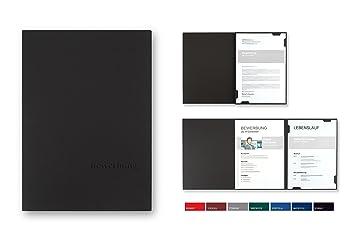 5 Stück 3 Teilige Bewerbungsmappen Bl Exclusivdruck Easy In Schwarz