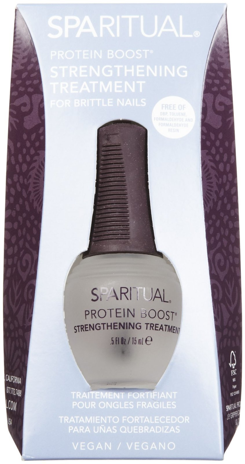 SPARITUAL Protein Boost Strengthening Treatment For Brittle Nails .5 fl. oz. by SpaRitual (Image #1)