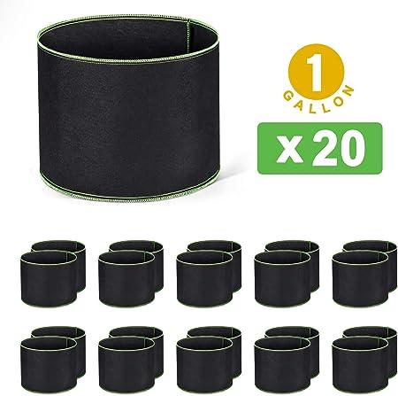 5 Pack épaissie non-tissé jardin plantation Grow Bags Smart Plant Pots Conteneur