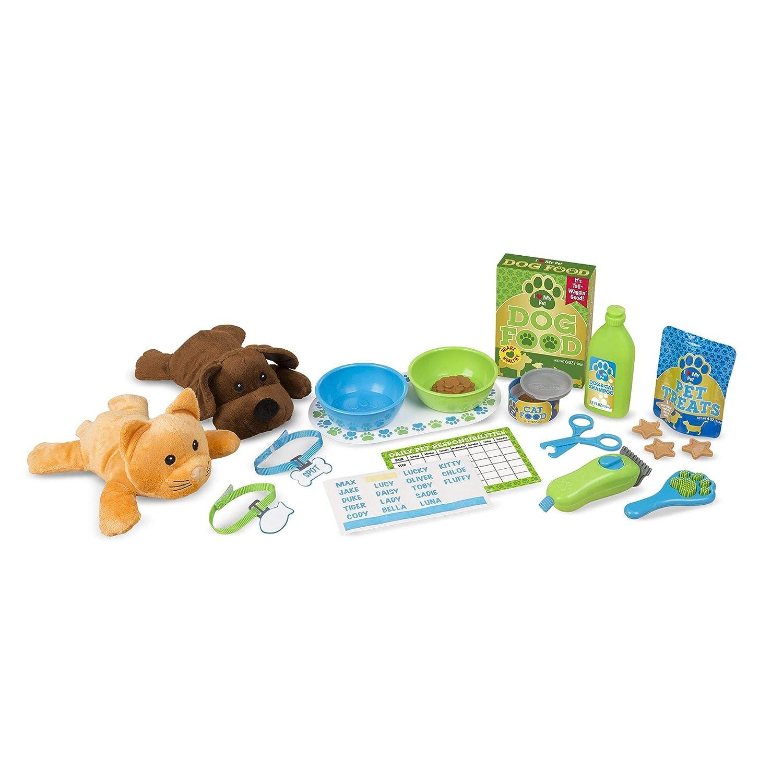Melissa Doug Feeding and Grooming Pet Care Play Set