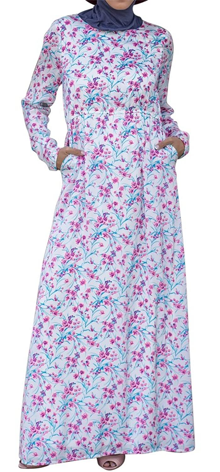Urban Modesty Womens Cherry Blossom Maxi Dress $39.99 AT vintagedancer.com