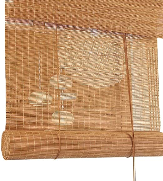 Estor enrollable exterior/veneciano para porche pérgola cenador para patio doméstico, filtración de la luz de bambú Roll Up cortinas con accesorios: Amazon.es: Hogar