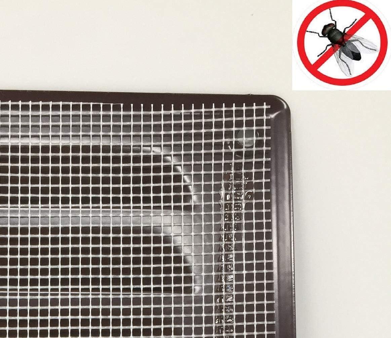 260x105mm Braun L/üftungsgitter Abschlussgitter Insektenschutz Abluft Zuluft Metall Gitter