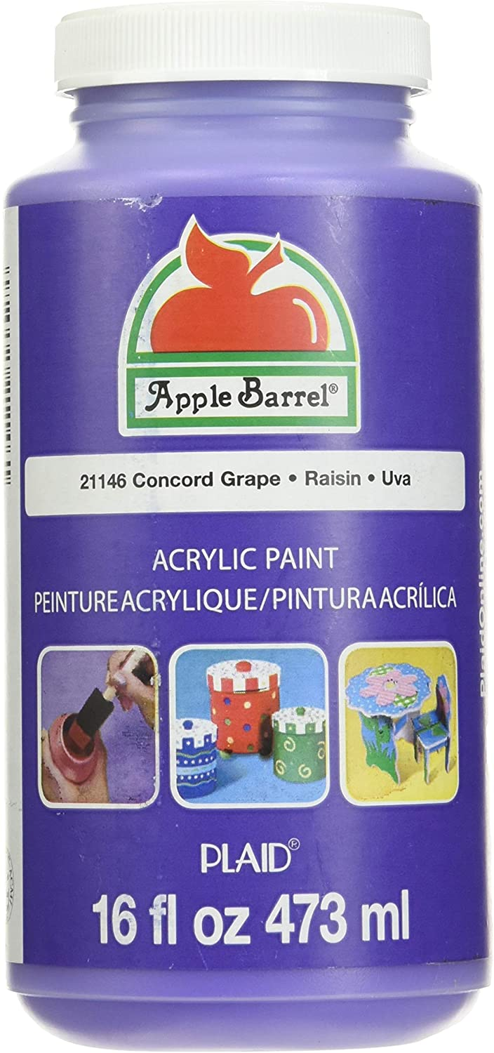 Apple Barrel Acrylic Paint in Assorted Colors (16 Ounce), 21146 Concord Grape