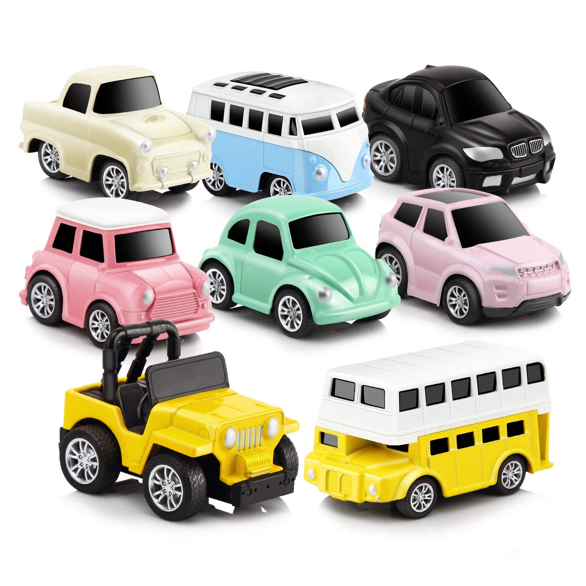 839c1bbd1d4 GEYIIE Pull Back Cars,8 Pack Mini Cars Set Alloy Micro Machines,Pull Back