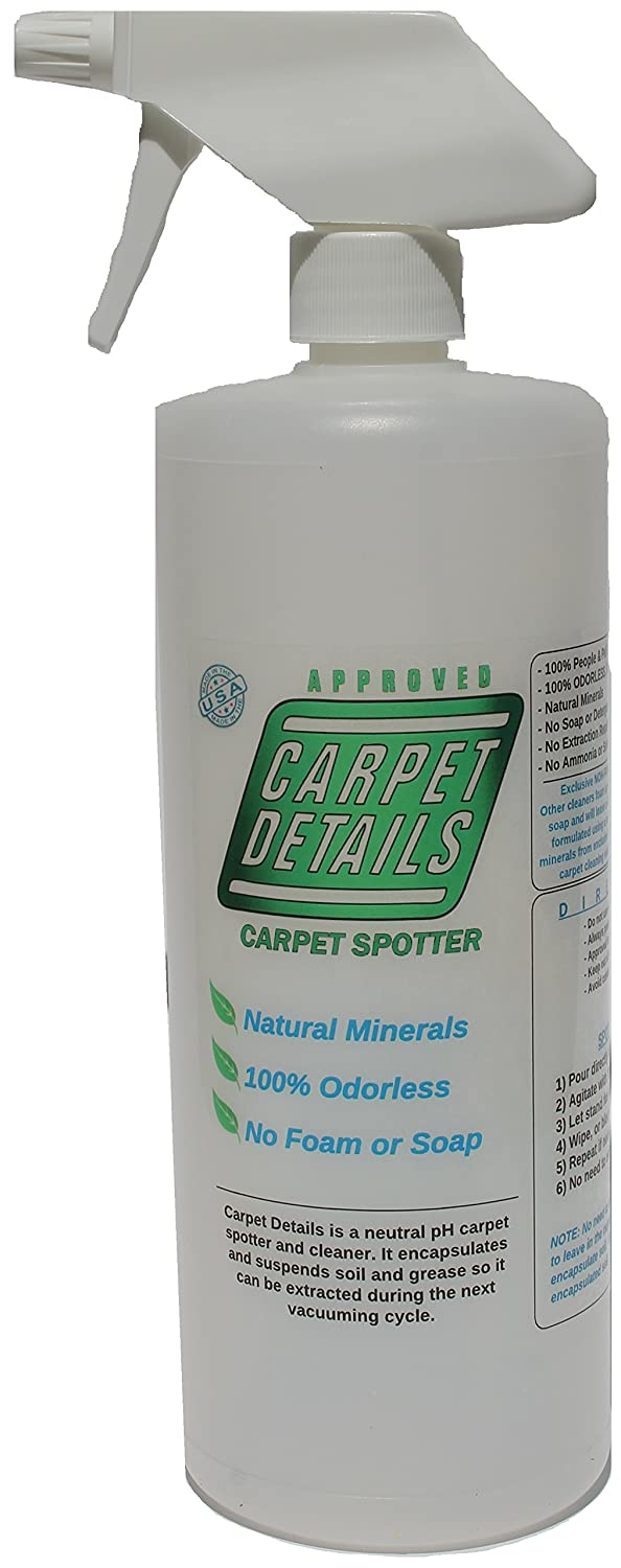 Carpet Details 32 oz, Odorless, Natural Mineral Based Pet Carpet Cleaning Solution AX-AY-ABHI-48480