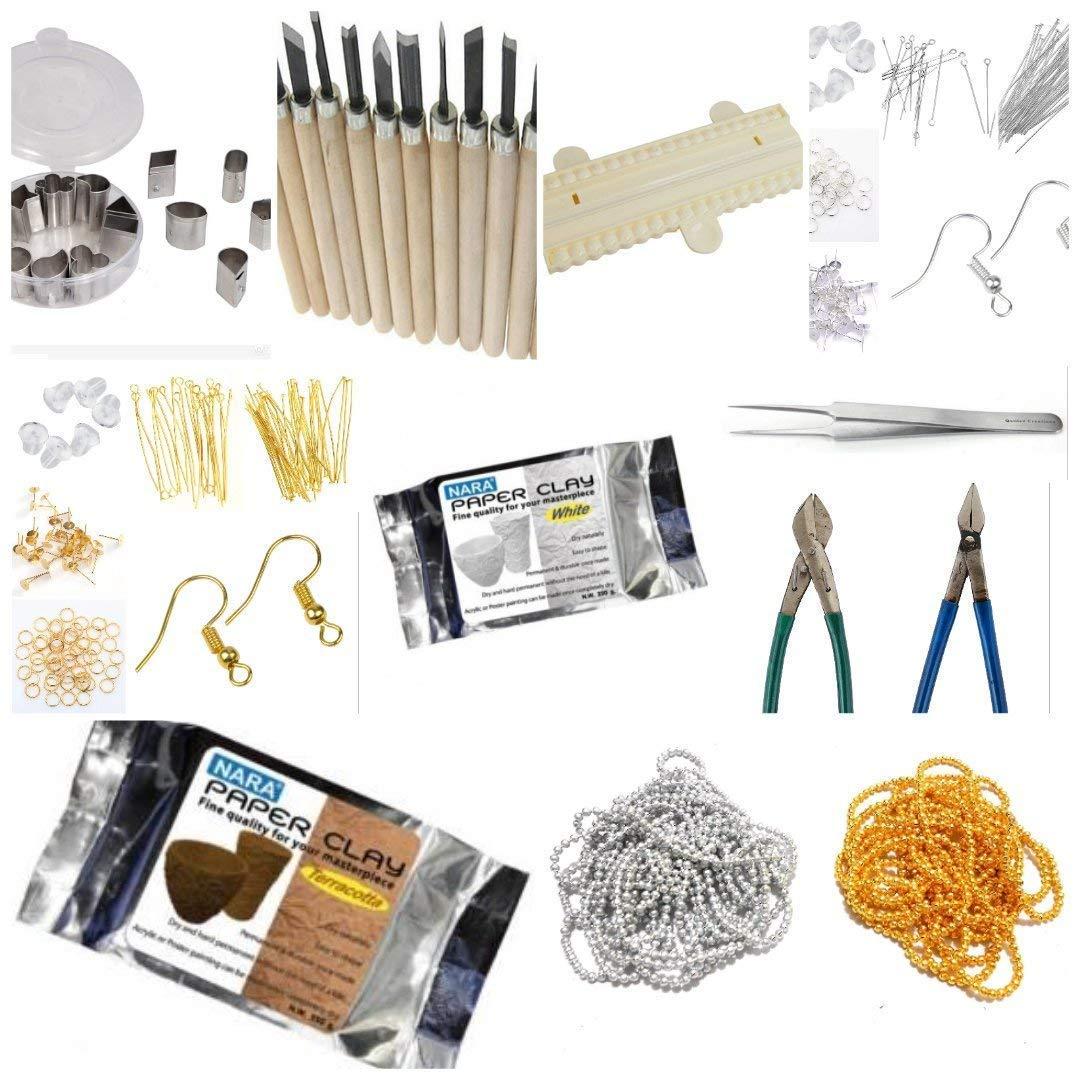 Medonna Shoppe Terracotta Jewellery Making Materials Kit For Women ...