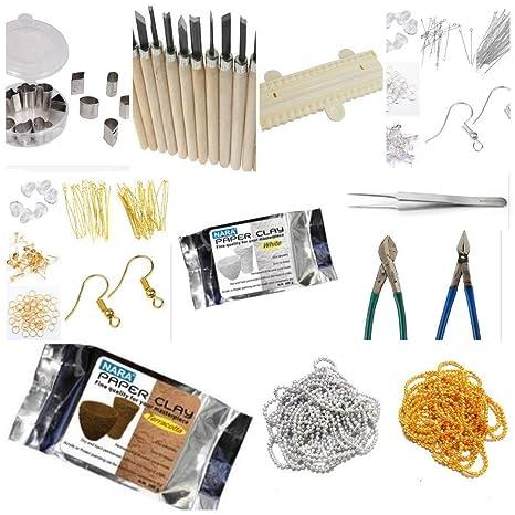 Medonna Shoppe Terracotta Jewellery Making Materials Kit For ...