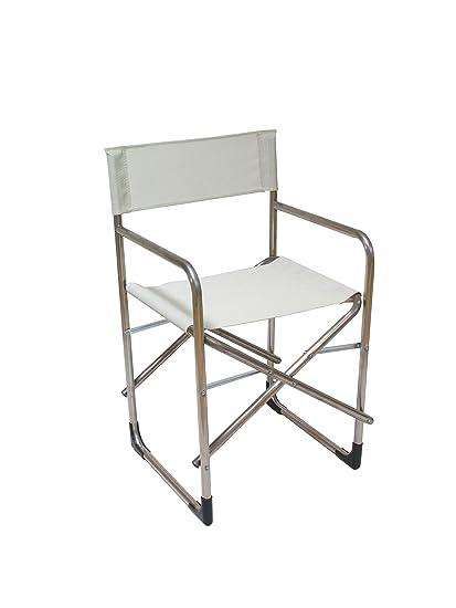 Sedie Pieghevoli Regista Alluminio.Sedia Regista Alluminio E Textilene Mod Sd11001 Made In Italy