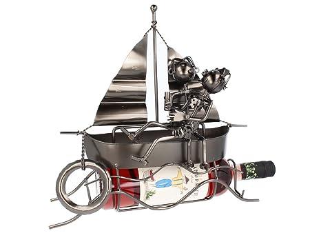 Barca hinchable con soporte para botellas de vino botellero ...