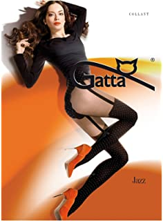 c628cbaf64515 Gatta Fashion sexy Jazz 02–Polka Dot Patterned Tights with Hot Strapsemuster