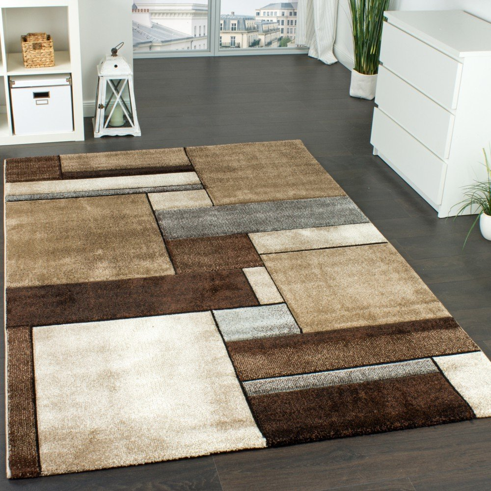 Paco Home Designer Teppich Kariert Modern Trendig Meliert Eyecatcher In Beige  Braun Grau, Grösse:80x150 Cm: Amazon.de: Küche U0026 Haushalt
