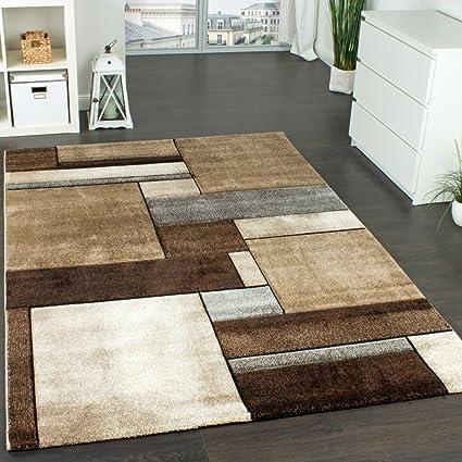 Paco Home Tappeto Di Design A Quadri Trendy Screziato Appariscente ...