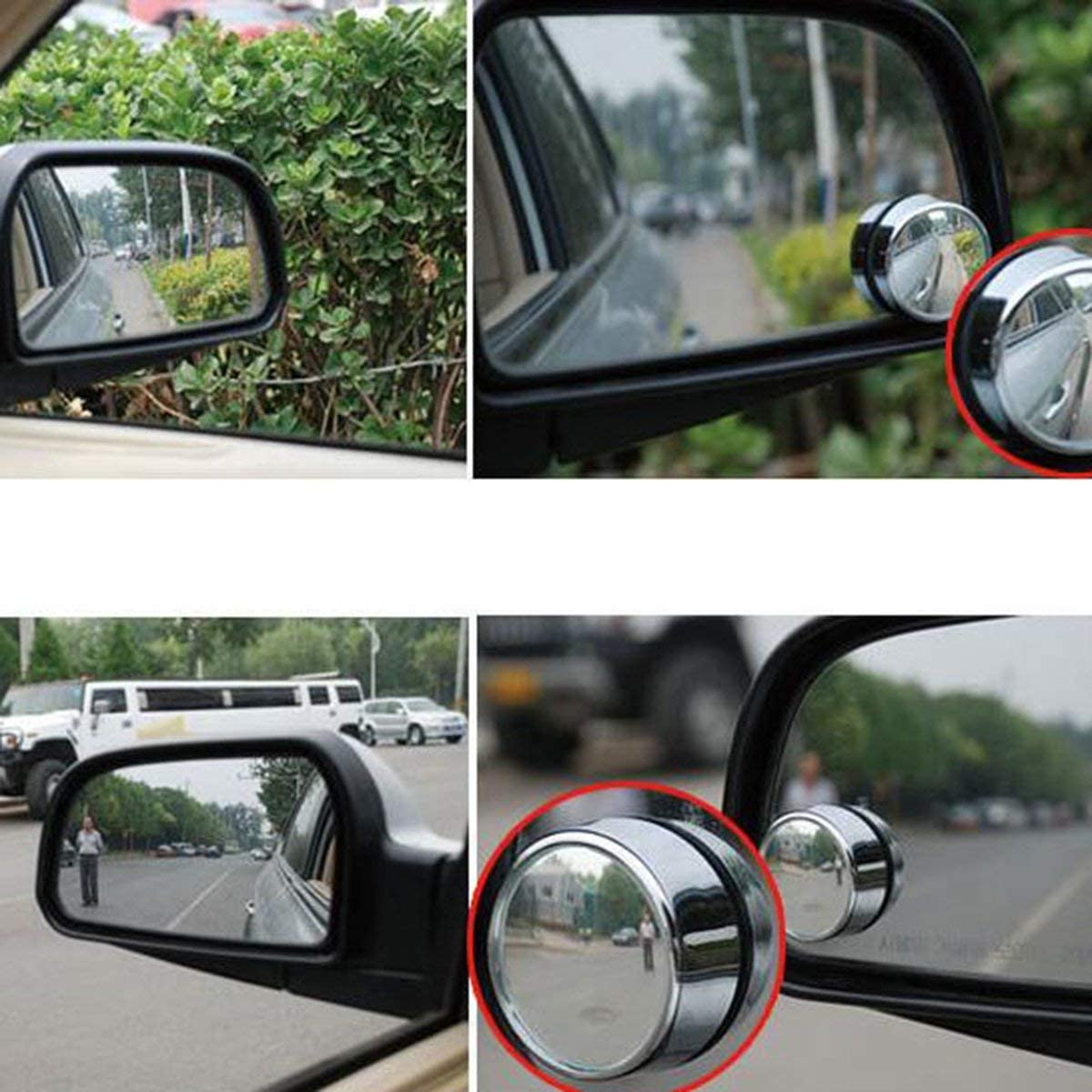 A pair of Car High definition adjustable blind spot mirror reversing wide angle mirror rear view auxiliary mirror Gugutogo