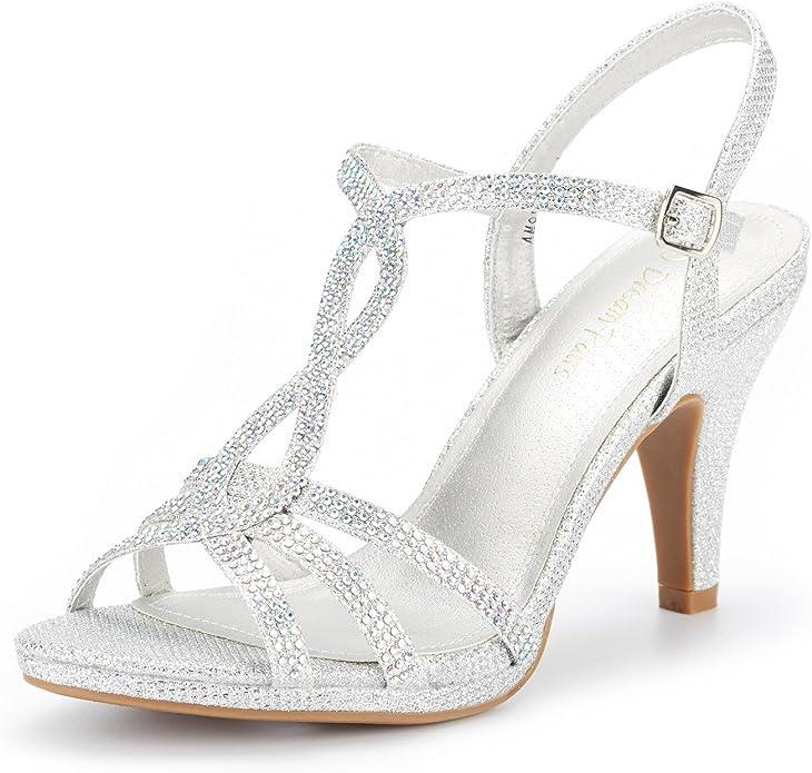 Open-toe pump heel sandals