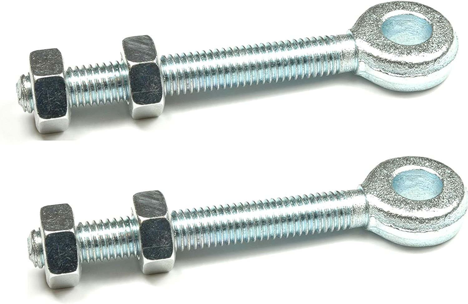 THREADED BOLTS EYES GALVANISED FOR 10 12 16 19 MM PINS 11 13  17 20 MM HOLE SIZE