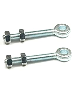 "2 Adjustable Gate Hinges Eye Bolts 22mm x 100mm Long 4/"" Pair M19 Galvanised"