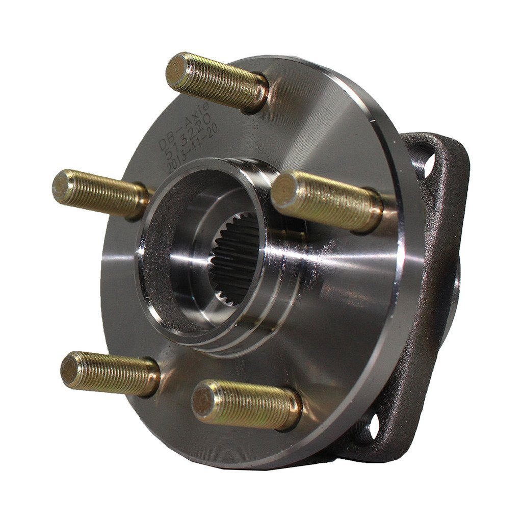 Detroit Axle Front Wheel Hub and Bearing Assembly - Driver or Passenger Side for - 2005-2014 Subaru Legacy w/ABS - [2005-2014 Subaru Outback w/ABS]