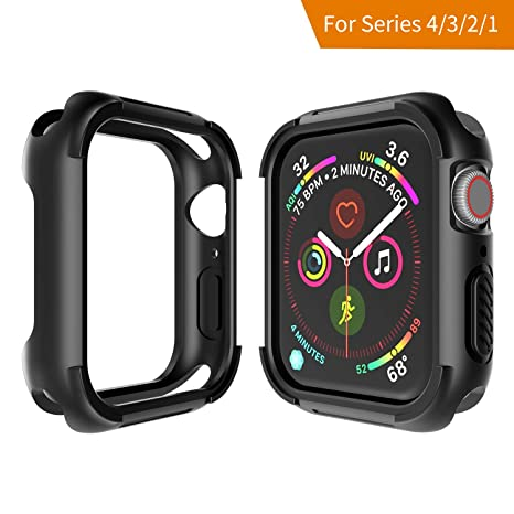 Seiaol Coque Apple Watch Séries 4 (44mm), Apple Montre 4 Protecteur d