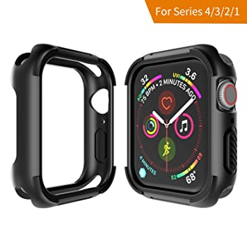 Seiaol Funda Apple Watch Series 4 44mm ,Protector Pantalla Iwatch 4 Protección Robusta a Prueba