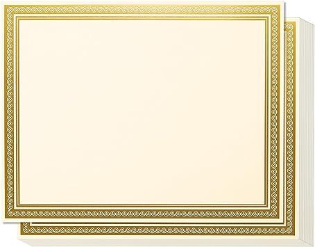 Amazon.com: Certificados de premio, 50 hojas de papel en ...