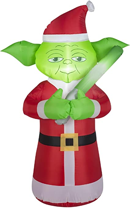 Amazon.com: Star Wars Yoda Papá Noel inflable: Toys & Games