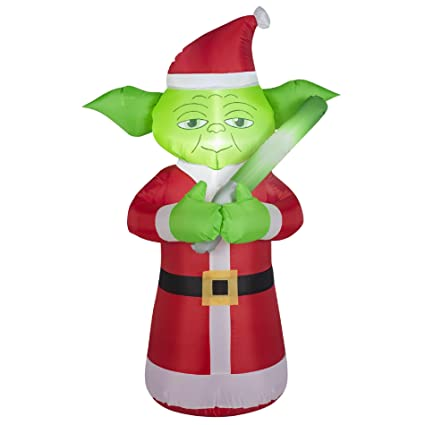 star wars inflatable yoda santa decoration - Star Wars Inflatable Christmas Decorations