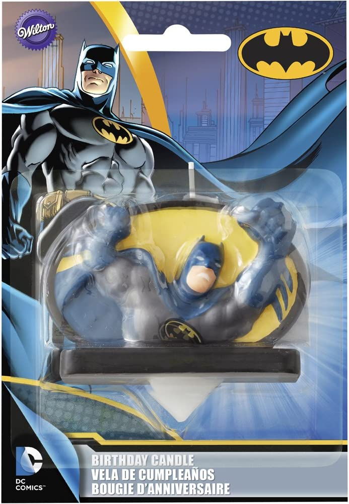 Wilton Batman Birthday Candle, Multicolor
