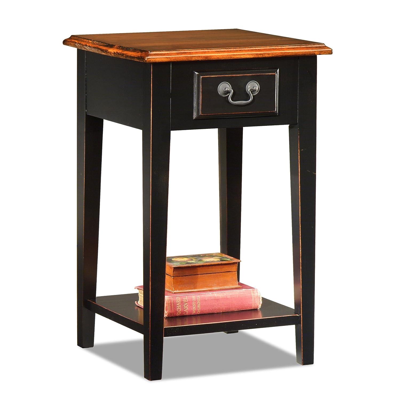 Amazon.com: Leick Shaker Square End Table, Slate Black: Kitchen U0026 Dining