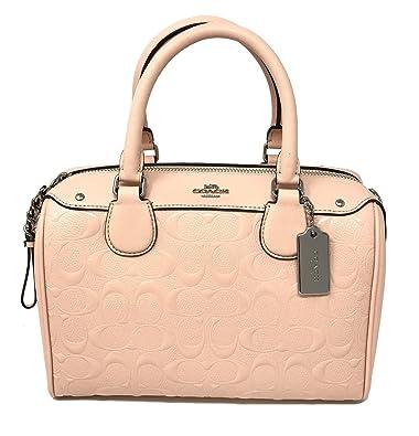 6656aa43653c COACH F11920 MINI BENNETT SATCHEL IN SIGNATURE DEBOSSED PATENT LEATHER  LIGHT PINK  Handbags  Amazon.com