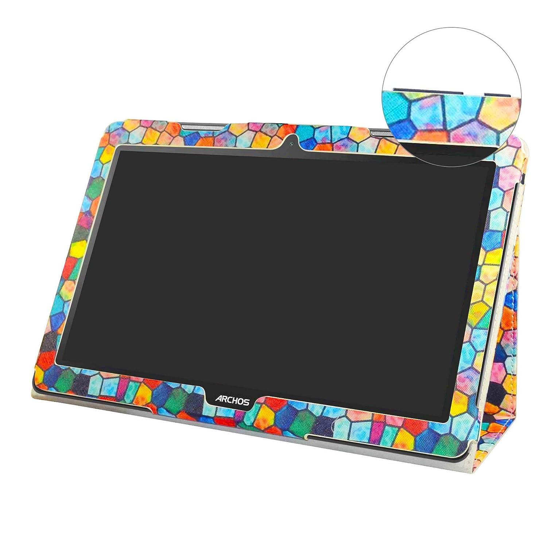 Archos 133 Oxygen Coque,Mama Mouth Slim Folio PU Cuir debout Fonction Housse Coque /Étui Couverture pour 13.3 Archos 133 Oxygen Andorid 6.0 Tablet PC,Bleu fonc/é