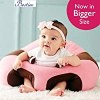 Besties Baby Soft Plush Cushion Cotton Baby Sofa Seat Infant Safety Car Chair Learn to Sit Stool Training Kids Support Sitting for Dining (Supporter Pink)