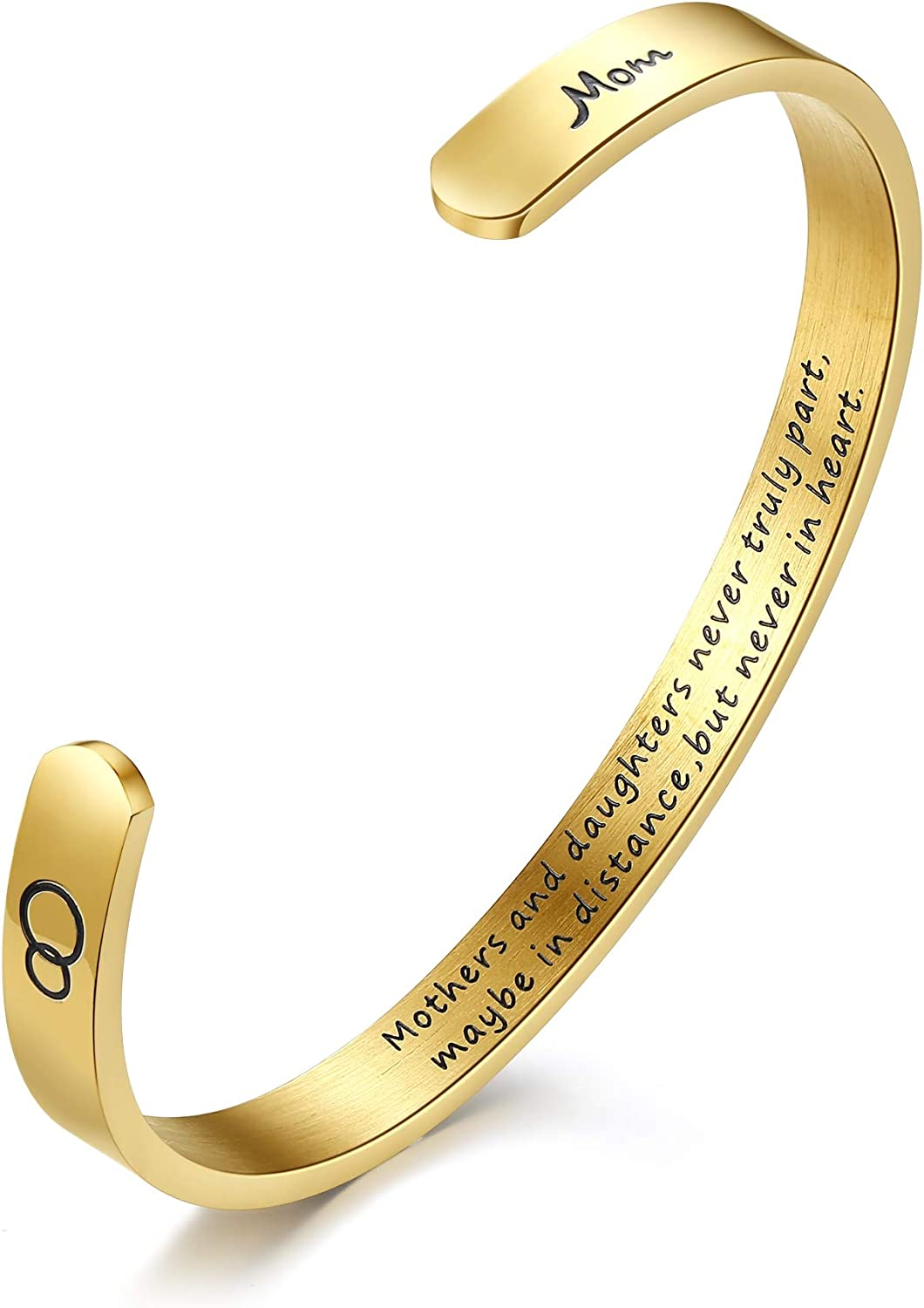 NEWNOVE Inspirational Gifts for Women Straighten Your Crown Bracelet Engraved Mantra Cuff Bangle Birthday Jewelry Gift for Her
